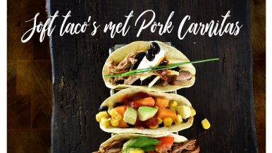 Soft taco's met Pork Carnitas