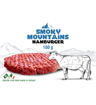 Smoky Mountain Hamburger 100gr met illustratie