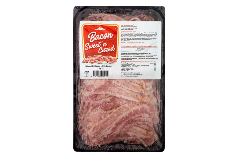 Bacon Sweet, Cured & Cooked, dv